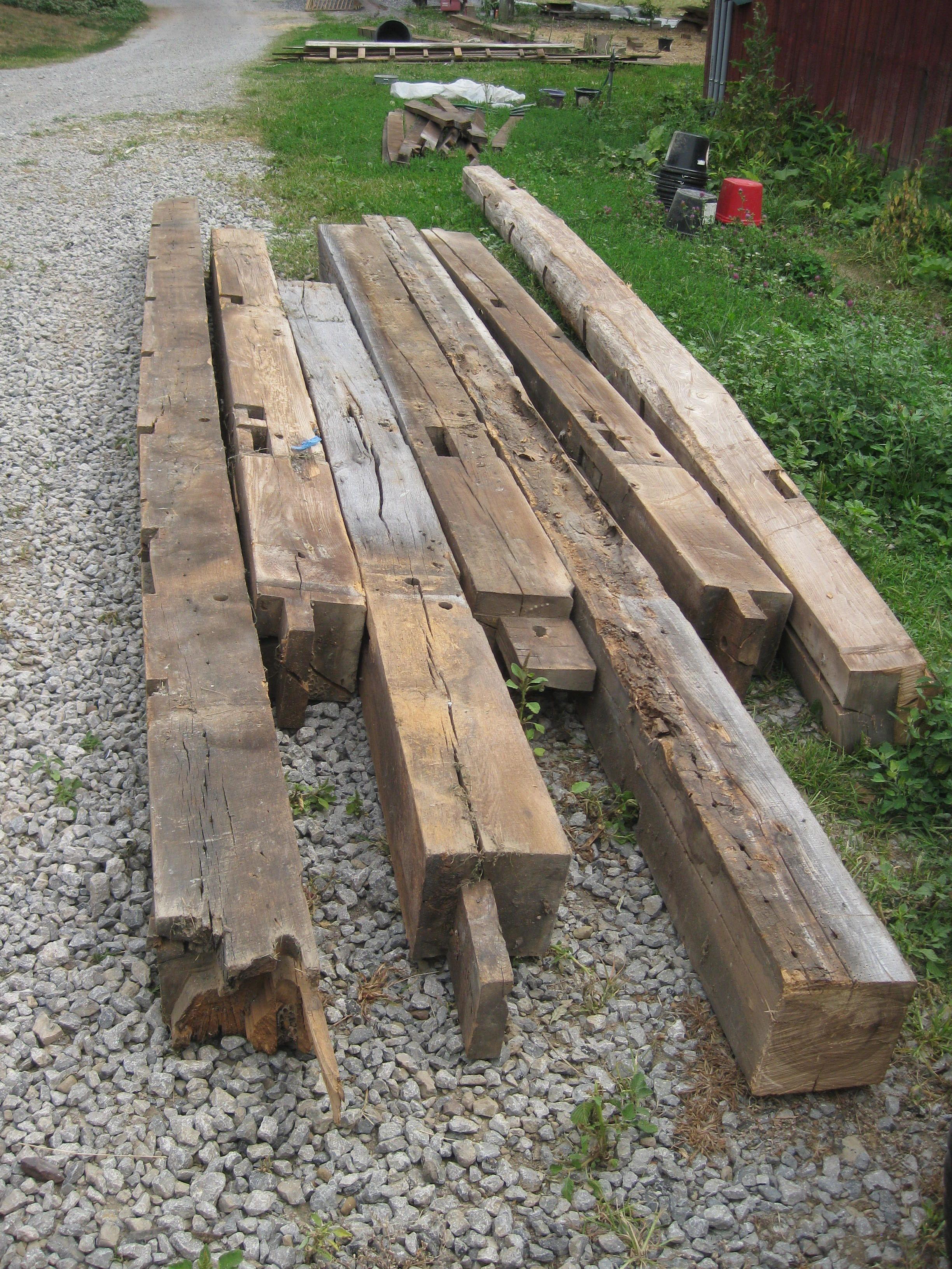 large solid beams great for fireplace mantals | Old barn ...