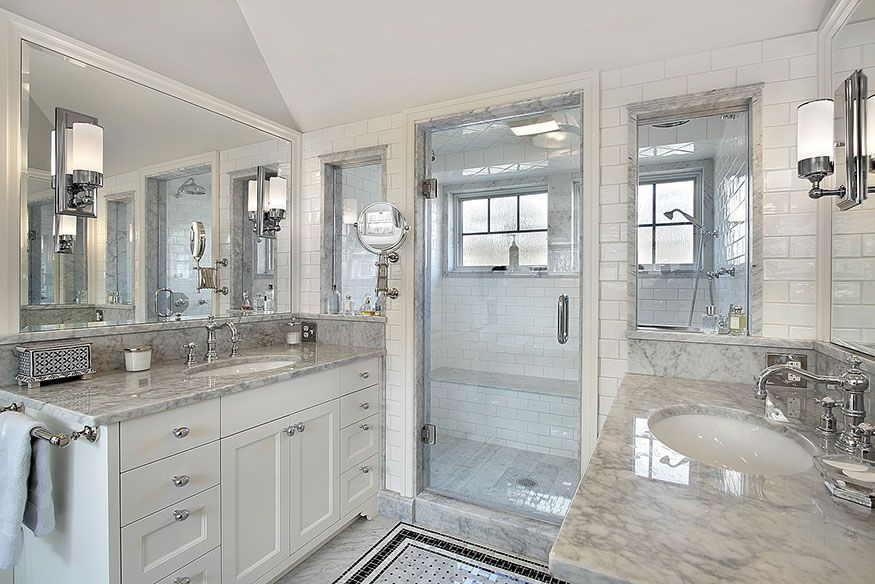 Ideas For Your Stone Works White Master Bathroom White Bathroom Designs Bathroom Remodel Master