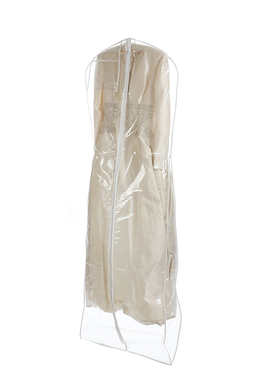 Bags For Less Clear Heavyduty 45 Mil Wedding Dress Garment Bag