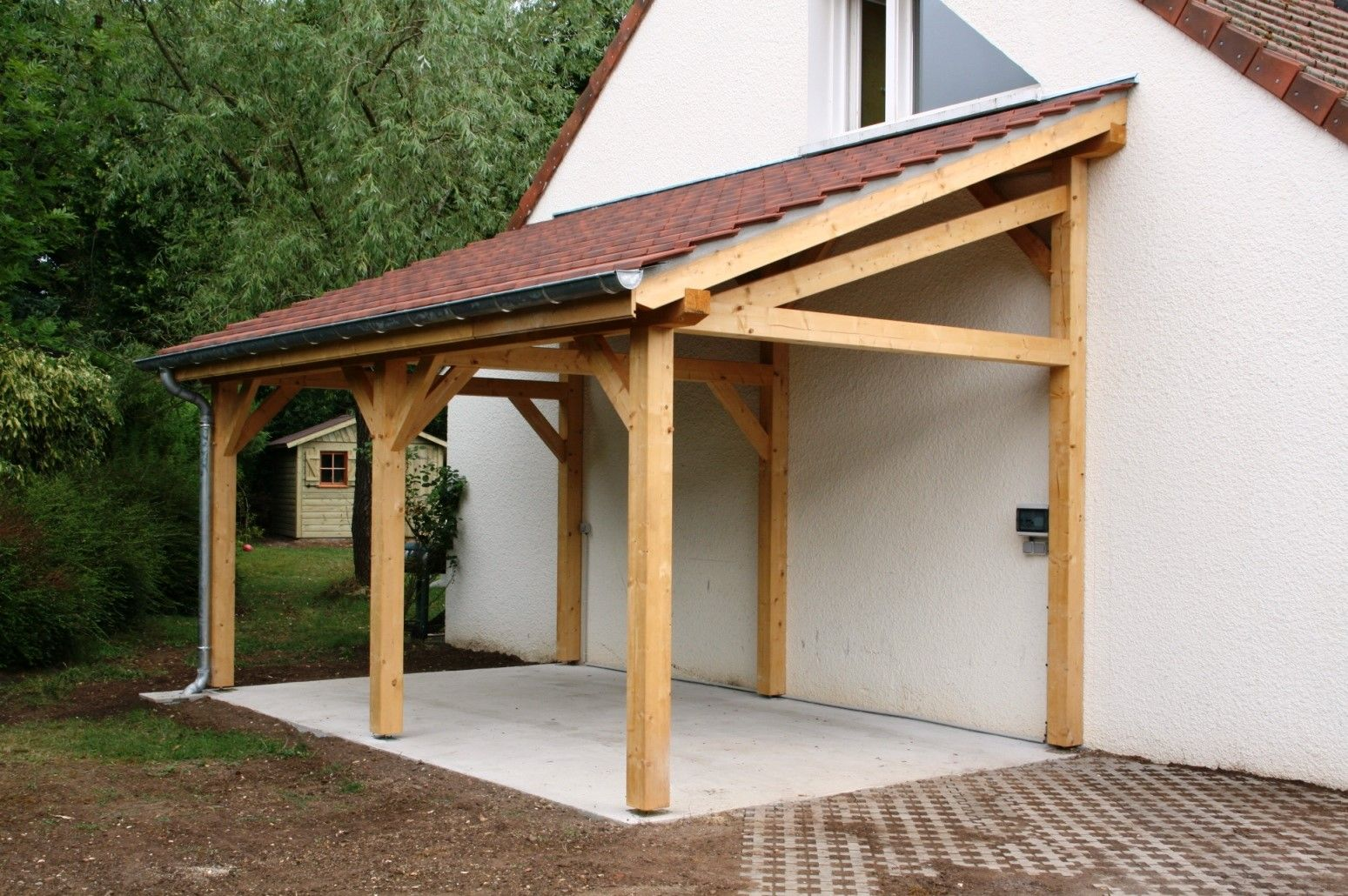 Shed Plans Garage 1 Pente 2 70mx7 00m Cerisier Abris De Jardin En Bois Now You Can Build Any Shed In A Weekend Even Building A Shed Pergola Shed Plans