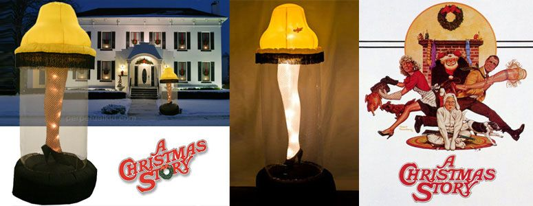 6 Foot Tall Inflatable Leg Lamp From A Christmas Story A Christmas Story Leg Lamp Christmas Decorations