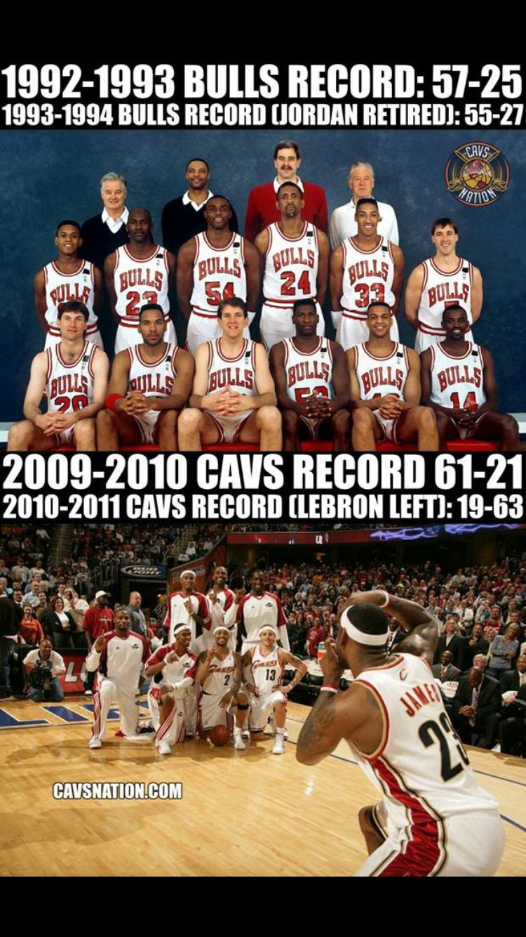 Bulls without MJ vs the Cavs without Lebron Lebron