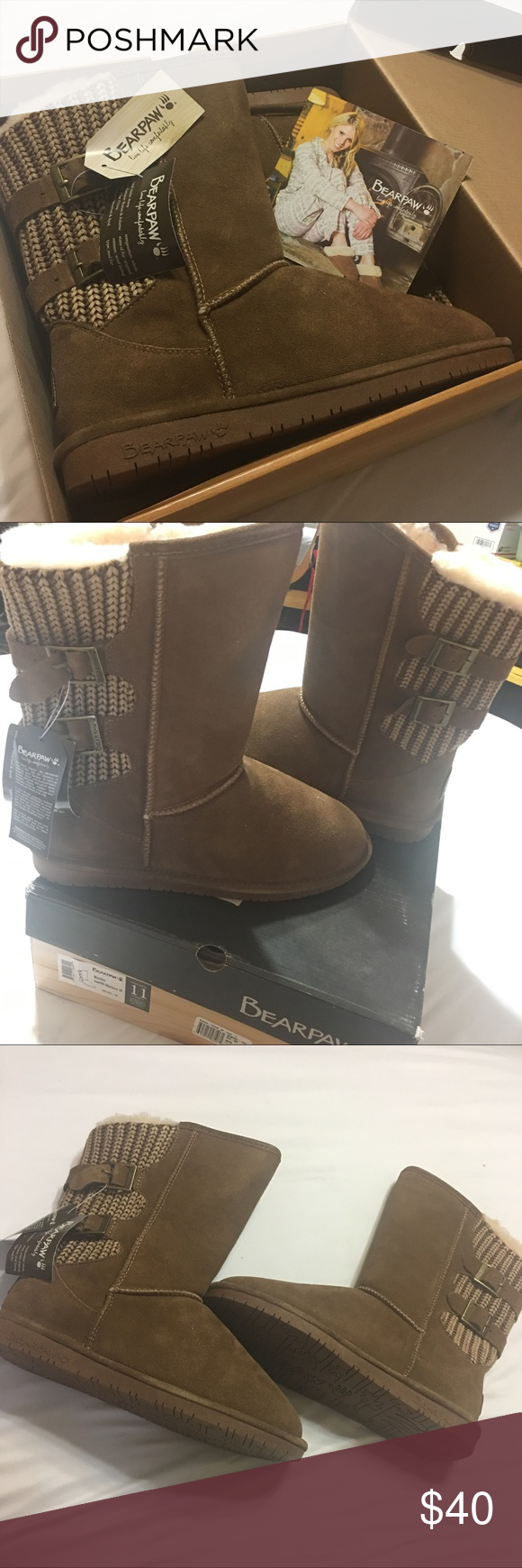 d14727b27208 Bearpaw Women s Boshie boots BEARPAW® Boshie boot features a suede front  and knitted back for