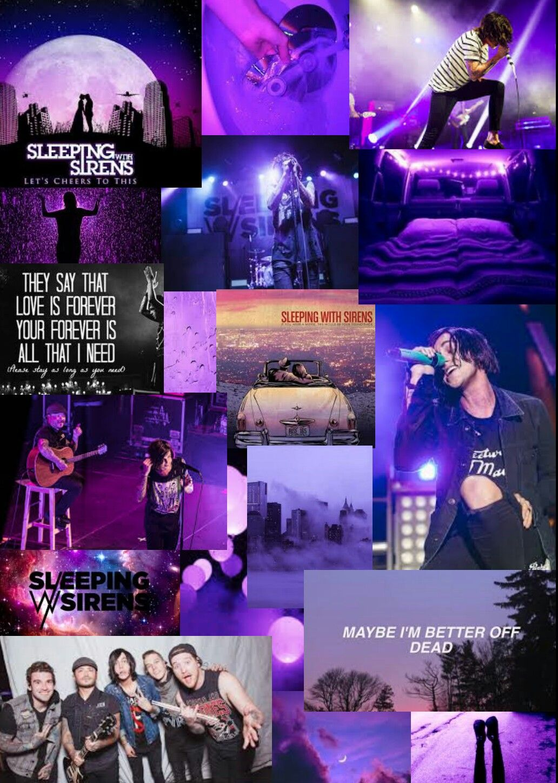 Sleeping With Sirens Inspired Purple Wallpaper Sleeping With Sirens Band Wallpapers Sirens