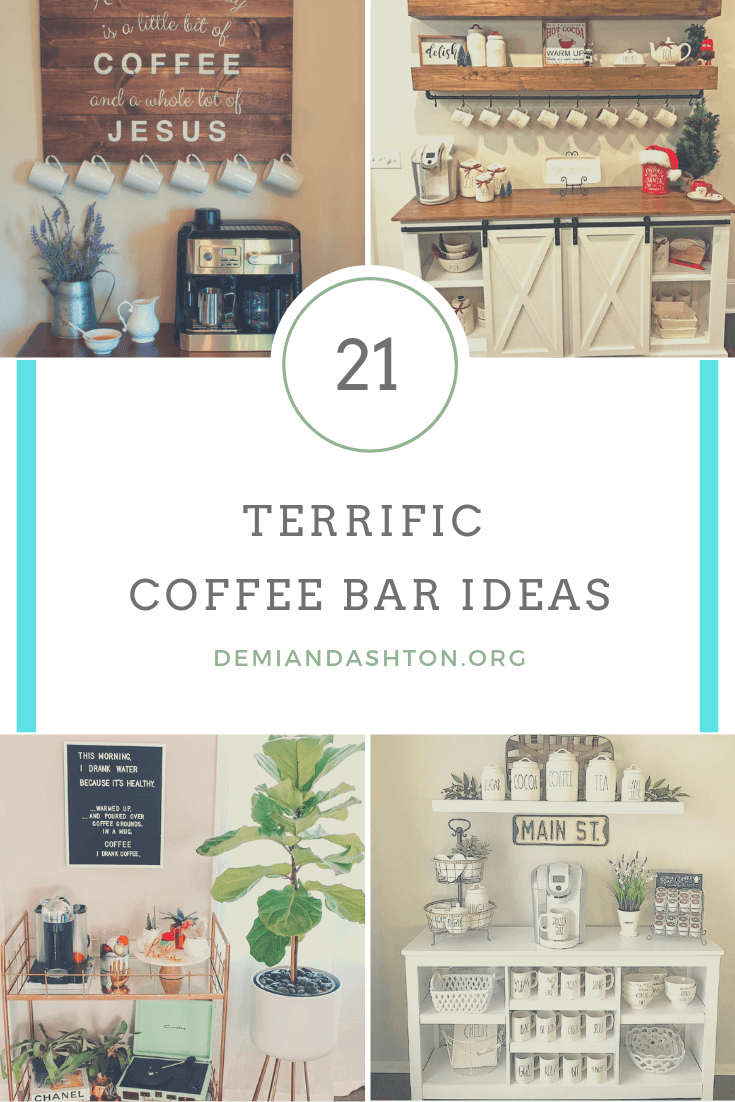 21 Terrific Coffee Bar Ideas to Help You Prepare Your Morning Coffee #coffeebarideas