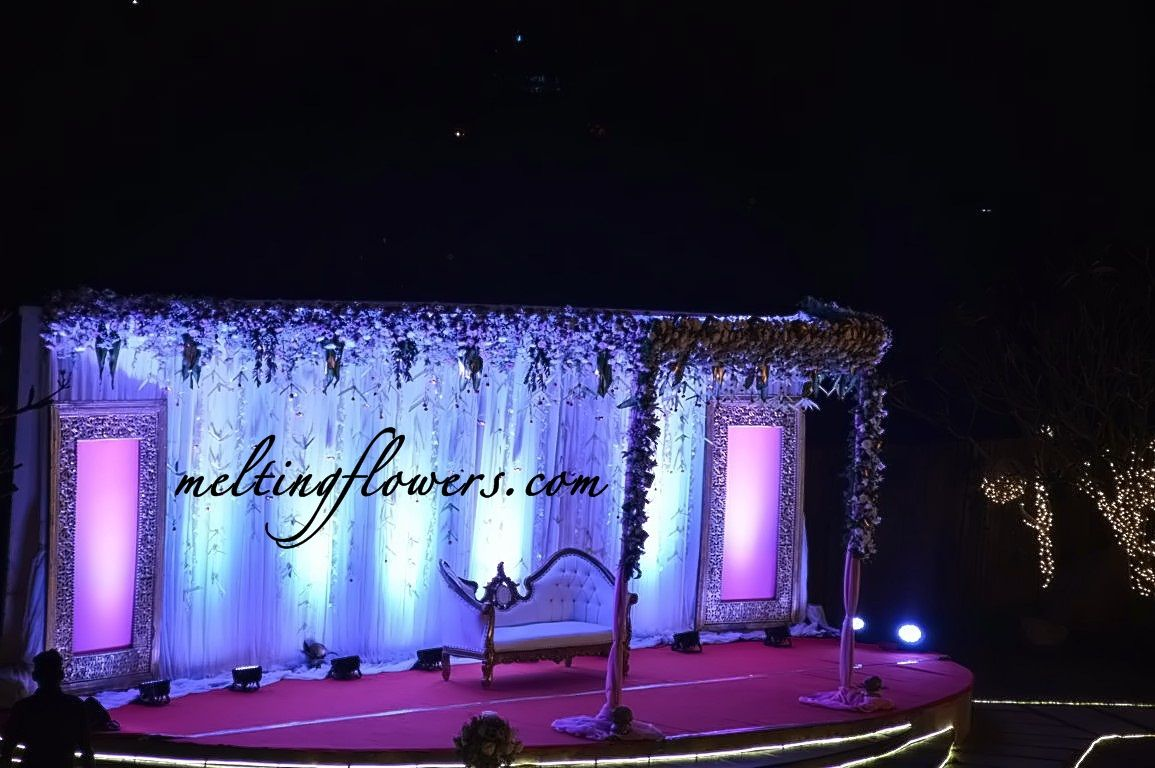 Reception Stage Decoration At Templetree Leisure Bangalore