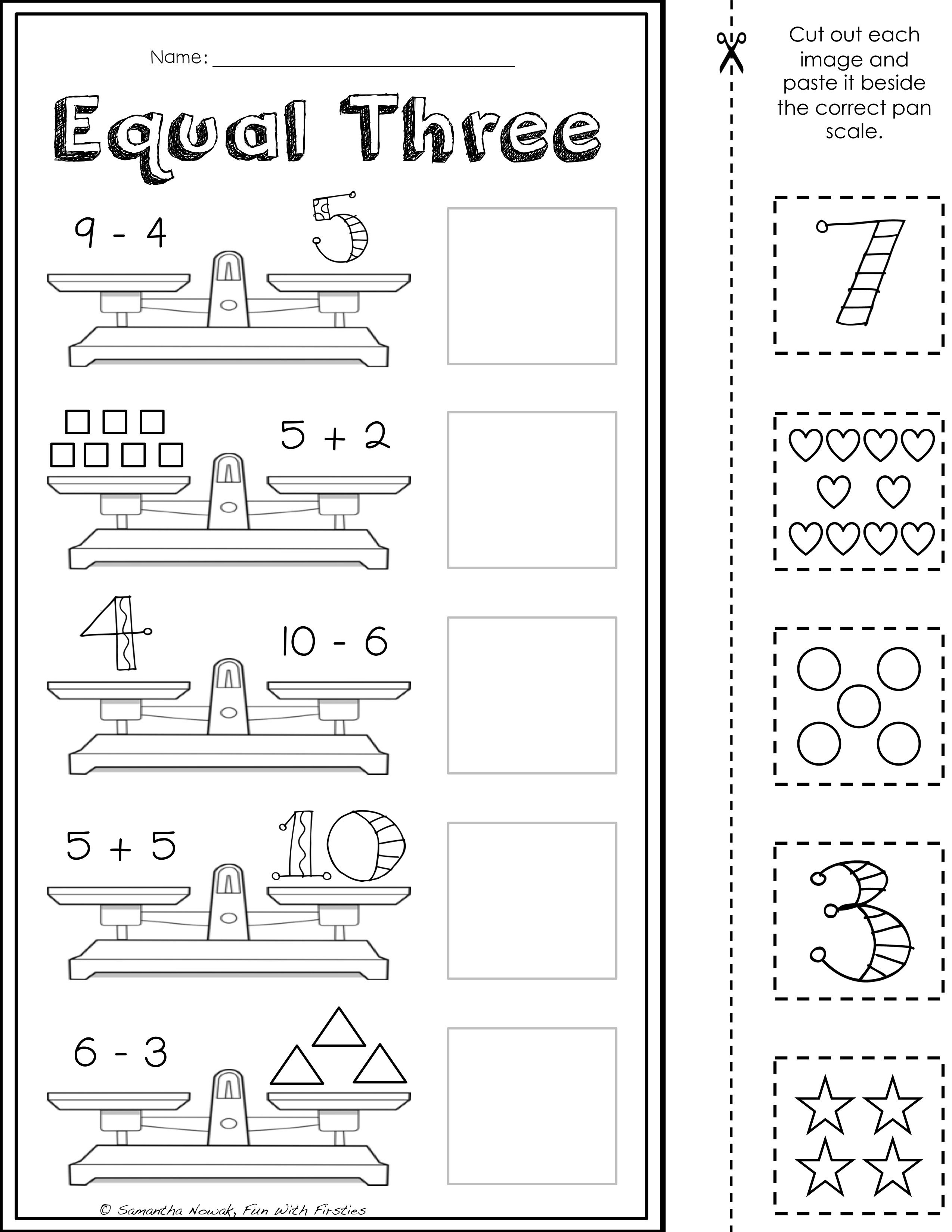 Balancing Equations: Print & Go! worksheets for extra practice and ...