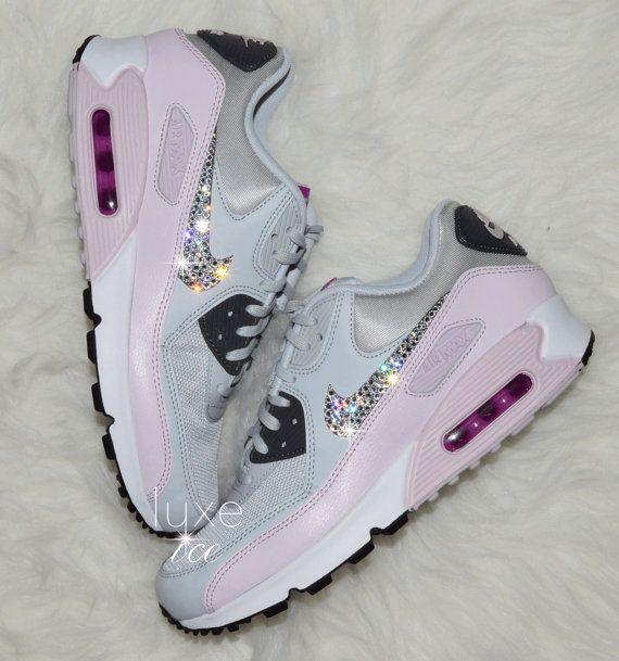 Nike Air Max 90 Pure Platinum X2f Dark Grey X2f Bleached Lilac By Shopluxeice Etsy Nike Air Max Nike Air Shoes Nike