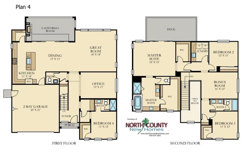 Cavalli At Harmony Grove Village San Diego North County New Homes Floor Plans New Homes House Plans