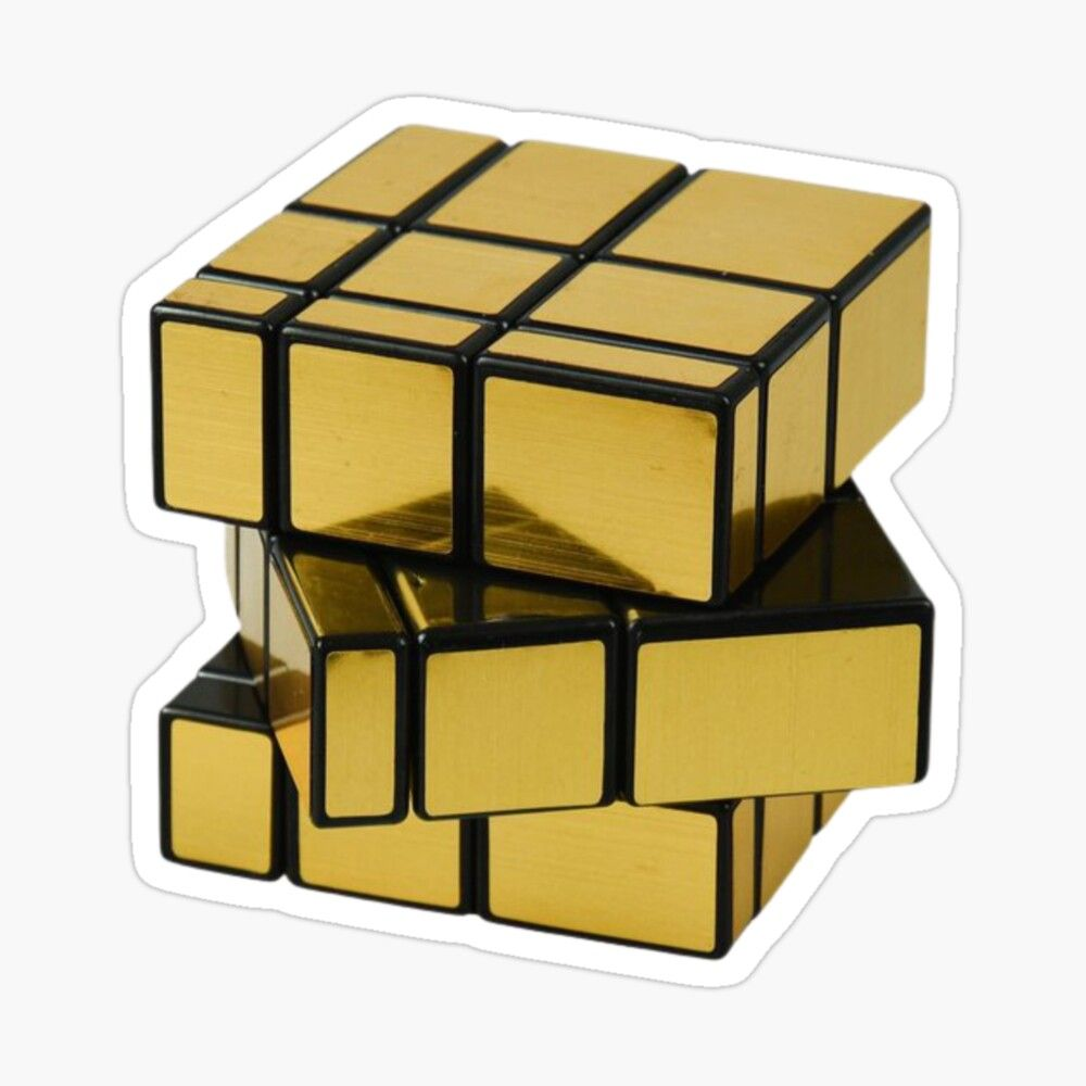 Get My Art Printed On Awesome Products Support Me At Redbubble Rbandme Https Www Redbubble Com I Sticker Golden Rubiks Cube E Rubiks Cube Cube Rubics Cube