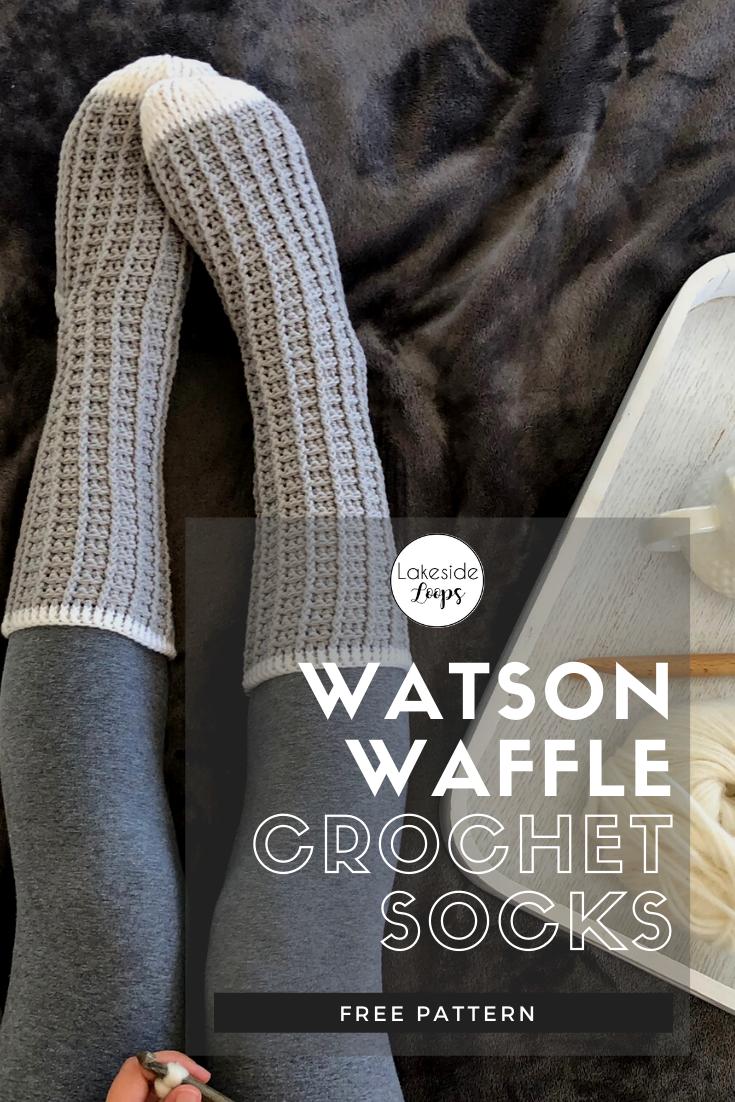 Watson Waffle Crochet Socks – FREE Pattern