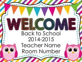 owl back to school powerpoint | open house, school opening and, Modern powerpoint