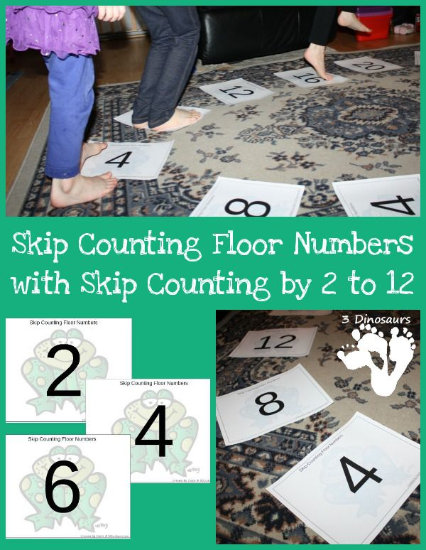 Free Skip Counting Floor Printables | Skip counting, Maths and Free