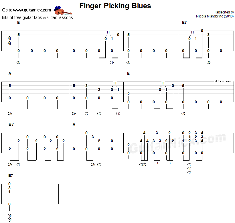 Acoustic Blues Guitar Tabs : finger picking blues acoustic fingerstyle blues tab guitar theory in 2019 fingerstyle ~ Hamham.info Haus und Dekorationen