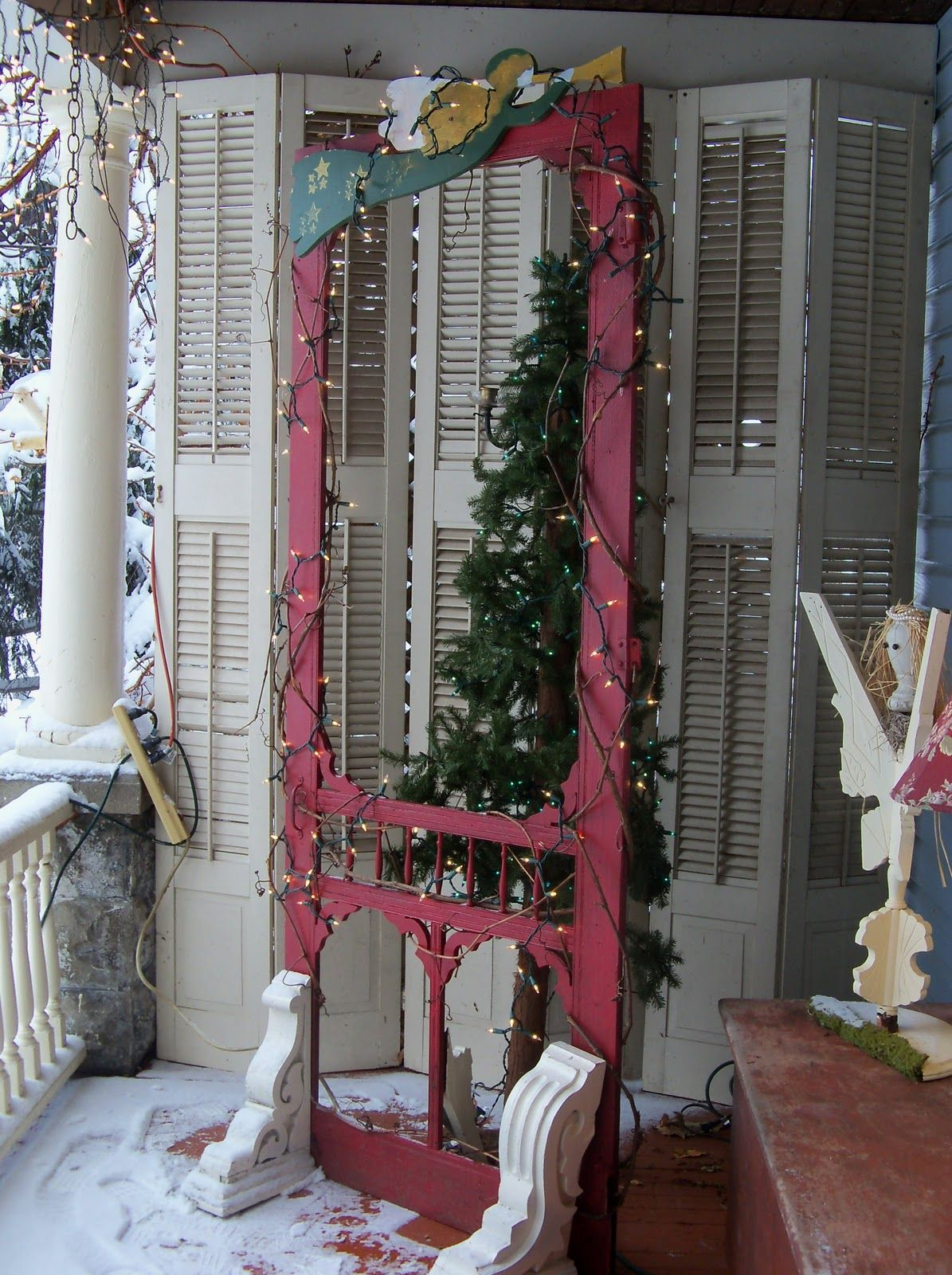 Great Idea For Old Screen Door Christmas Pinterest Screens