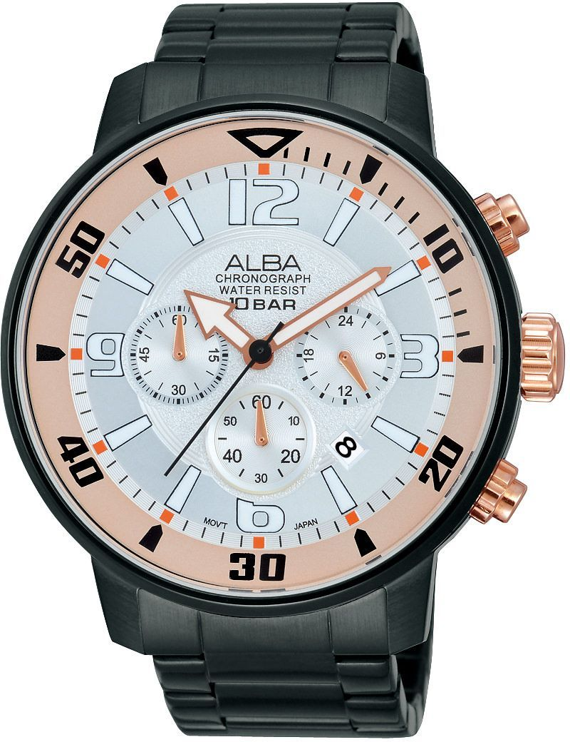 Alba Casual Watch For Men Analog Stainless Steel - AT3709X1