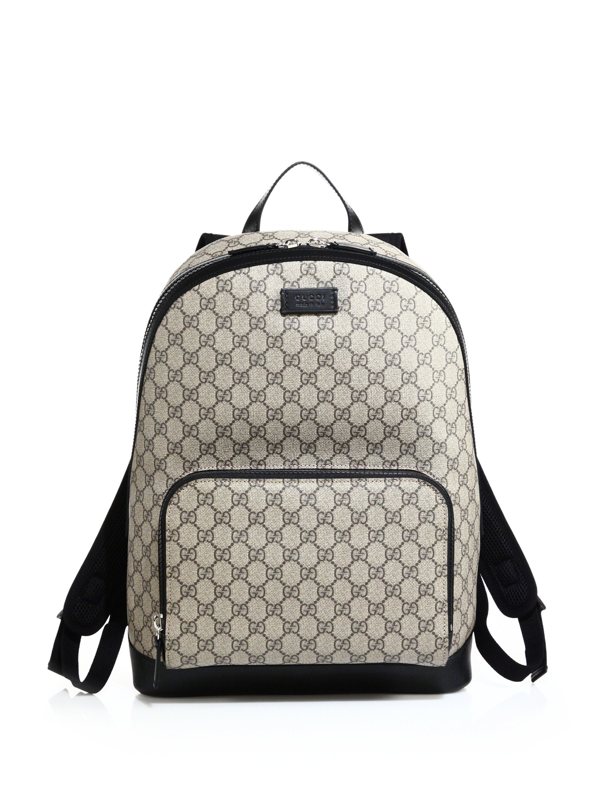 3744e01e Men's GG Supreme Canvas Backpack | Gucci Bag Wear | Mens leather ...