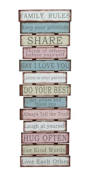 Family And Positive Messages Wall Decor Art Wall Decor Decor