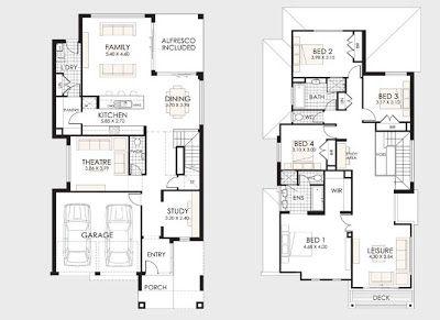 Planos de casas de dos pisos for Niveles en planos arquitectonicos