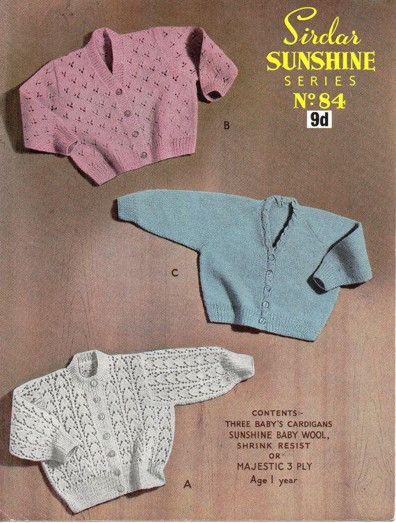97fadce60313 2B6021 baby cardigans knitting pattern lace cardigan v neck round ...
