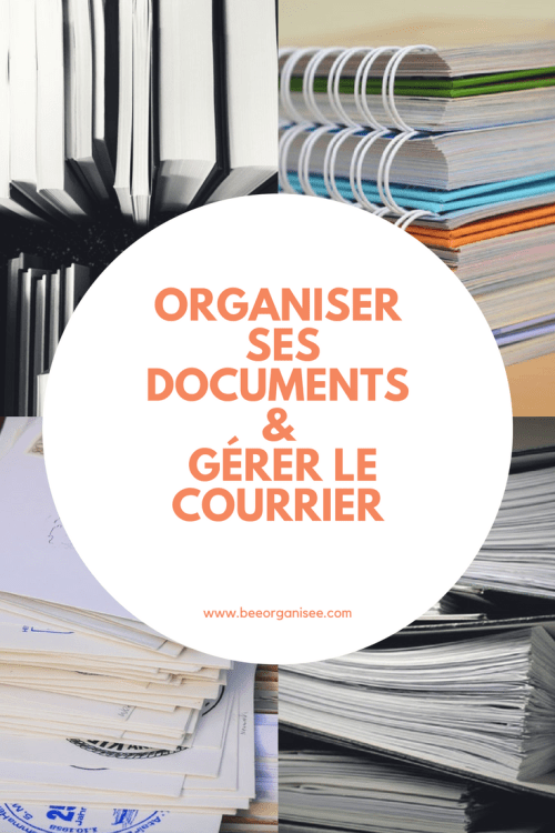 Organiser Ses Documents Et Gerer Le Courrier Entrant Ma Methode Bee Organisee Organisation Organisation Menage Document