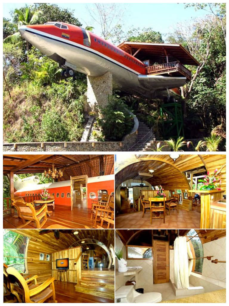 No idea where it's located ! More pictures here, Copyright Ti Heinrichs #House, #Plane, #Upcycled