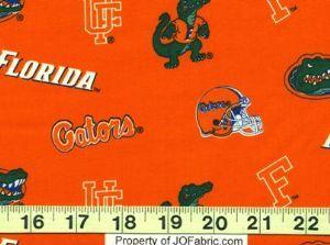 Florida Gators Fabric: Allover - Orange