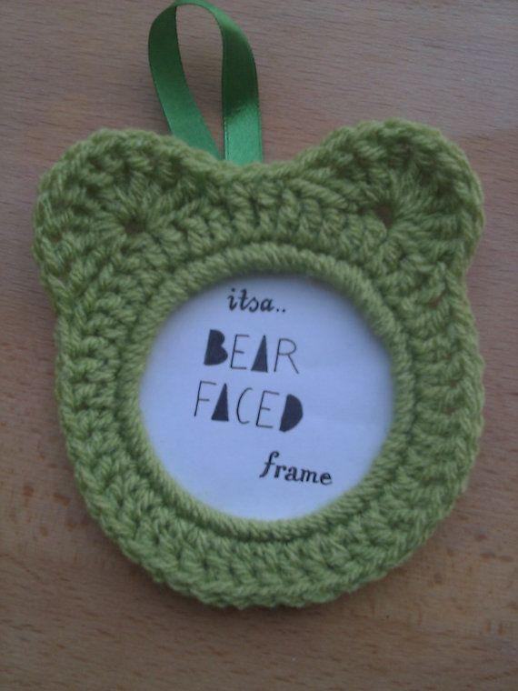Crochet Bear Faced Picture Frame crochet photo by SpectacledChicks, €4.00