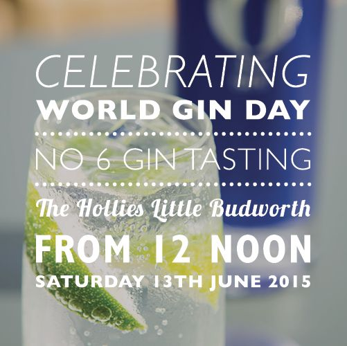 Celebrate World Gin Day at The Hollies Farm Shop, Cheshire with a 6 O'clock Gin tasting on 13th June 2015