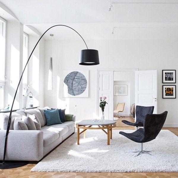Woonkamer Met Grote Zwarte Booglamp Shopinstijl Nl Scandinavische Woonkamers Modern Interieurontwerp Binnenhuisarchitect