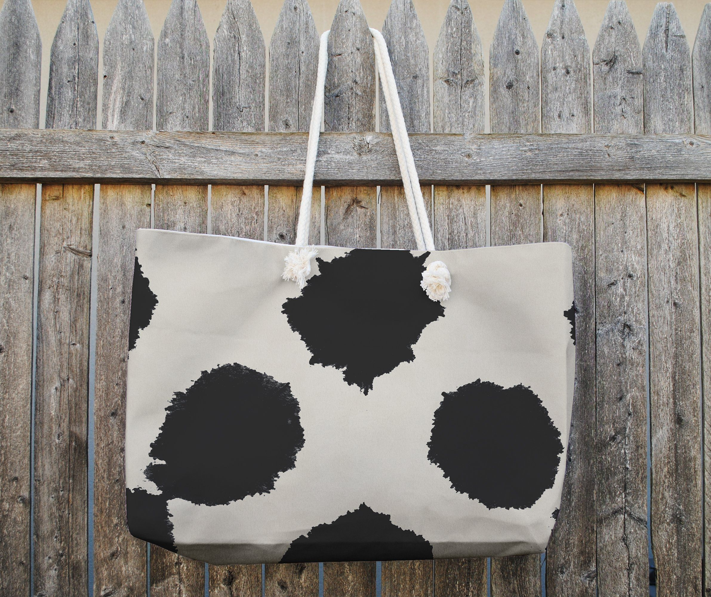 Photo of BAQUARELLE LARGE SPOTS Tote Bag By Nancy Green – 25in x 33in