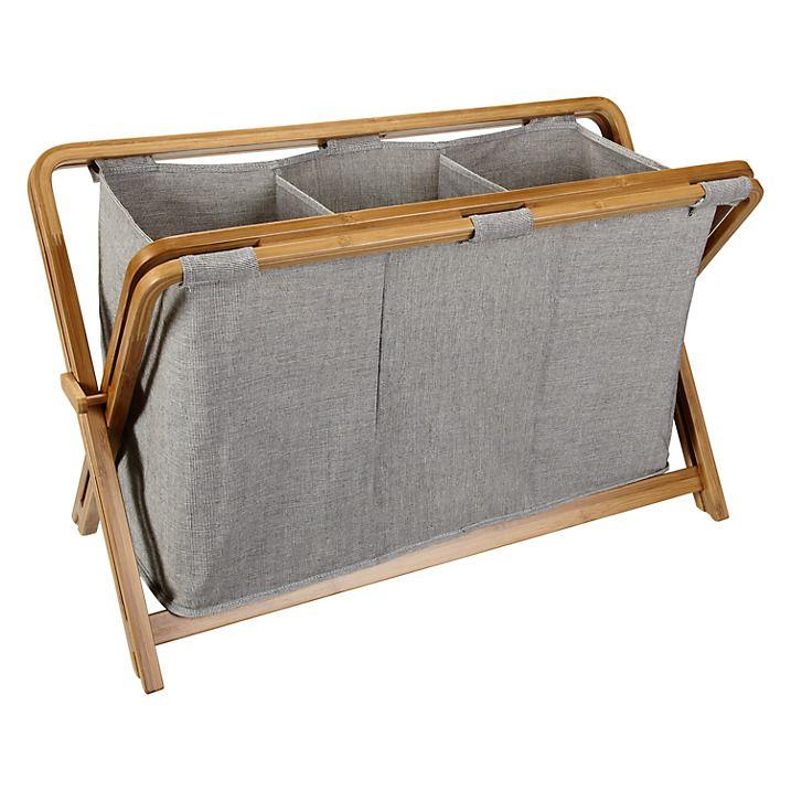 John Lewis Fusion 3 Compartment Laundry Hamper Laundry Hamper