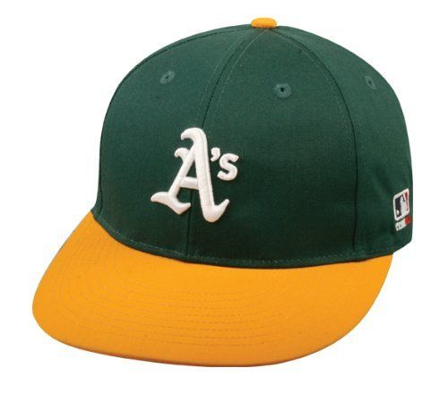 Oakland Athletics A s (Home - Green Yellow) ADULT Adjustable Hat MLB  Officially Licensed Major League Baseball Replica Ball Cap by Team MLB -  Authentic ... 3374780bc9e8