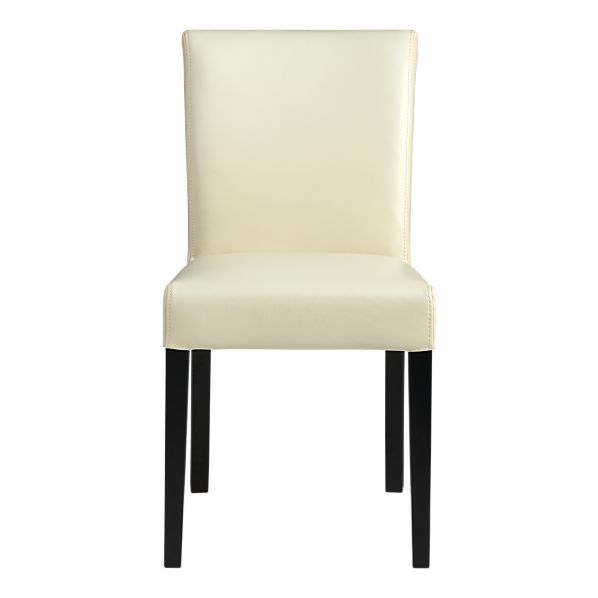 Lowe Ivory Leather Side Chair  Dining Room Redo  Pinterest Simple Ivory Leather Dining Room Chairs Design Decoration