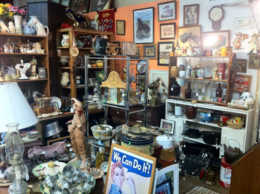 antique store....Going antiquing is on the top of my list!!!
