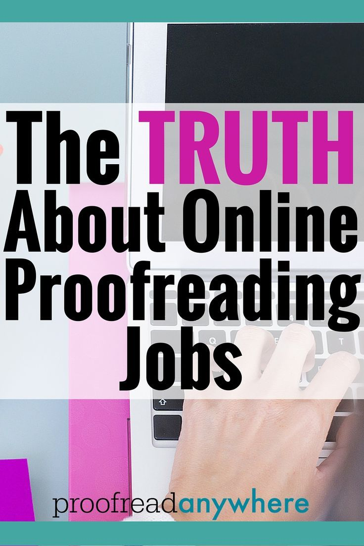 jobs in editing and proofreading
