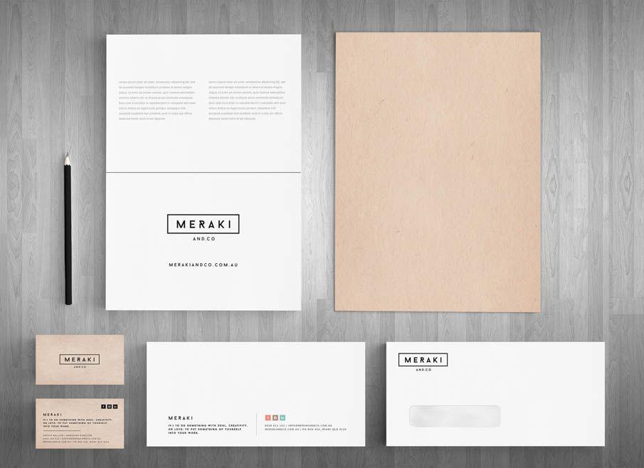 meraki and co. - Gold Coast Logo, website and Letterhead and ...