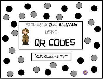 Zoo Animals using QR Codes | Kindergarten Math Resources