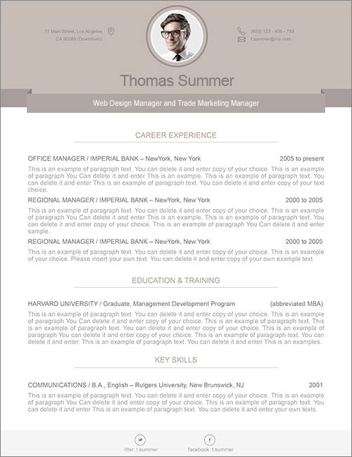 modern resume template 110500 premium line of resume cover