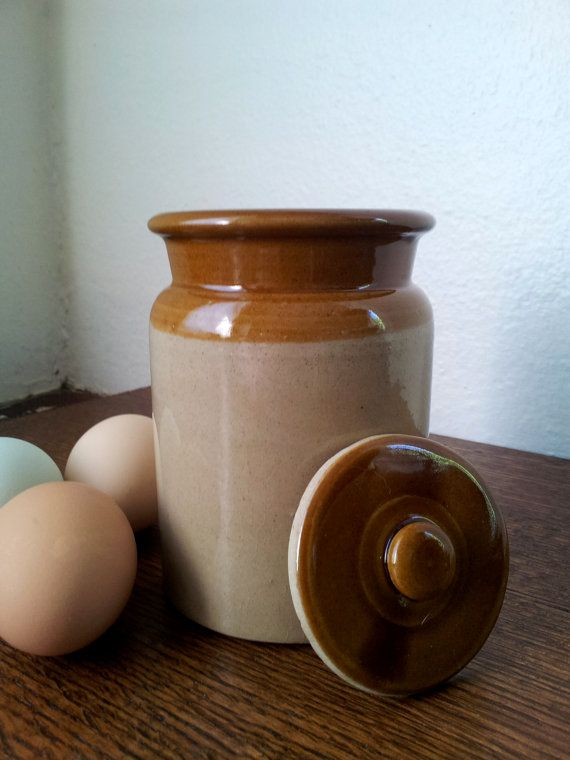 Vintage Pearson S Of Chesterfield Small 1lb Lidded Crock Etsy Stoneware Crocks Vintage Pottery Vintage House
