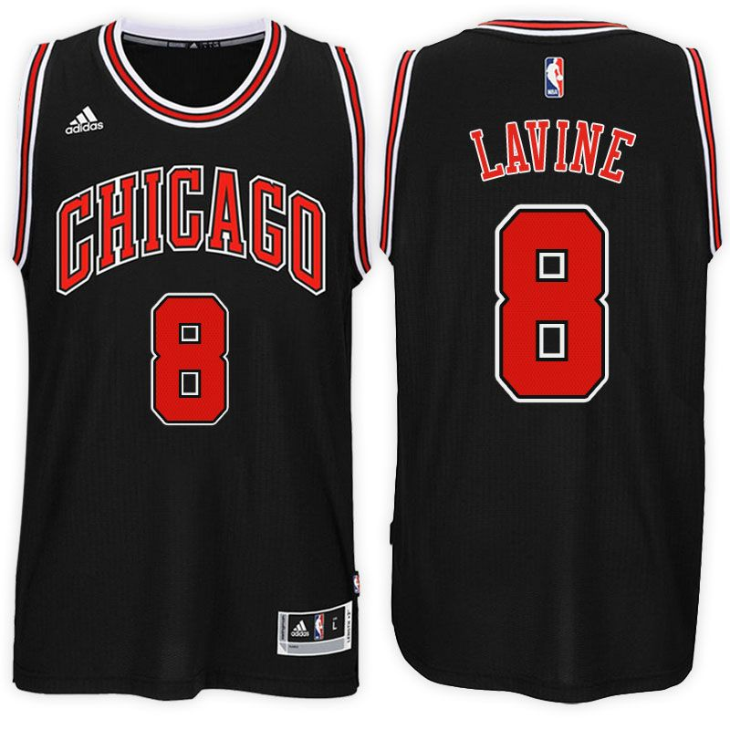 Chicago Bulls  8 Zach LaVine 2017-18 Alternate Black New Swingman Jersey dd95f3b41