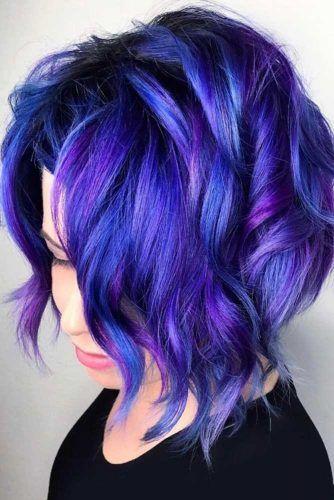 Haarfarbe dunkellila