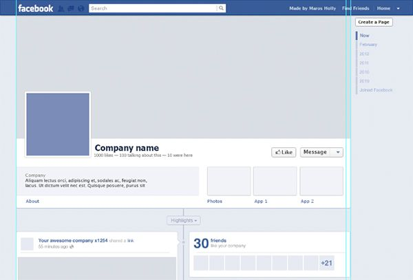 Free Facebook Timeline Psd Template Psd templates, Facebook - sample timelines