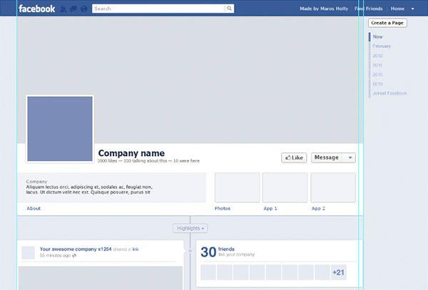 Free Facebook Timeline Psd Template Facebook Timeline Templates