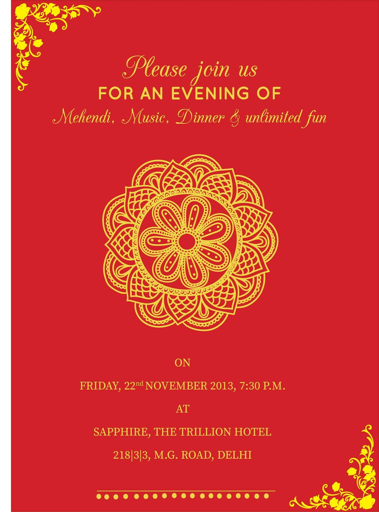 pin by invite online on mehndi invitations    wording samples    design templates in 2019