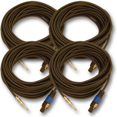 Seismic Audio Saspt14 25 4 Pack 25 Foot Speakon To 1 4 Pa Dj Speaker Cable 2 Conductor 14 Guage By Seismic Speaker Cables Speaker Cable Dj Speakers