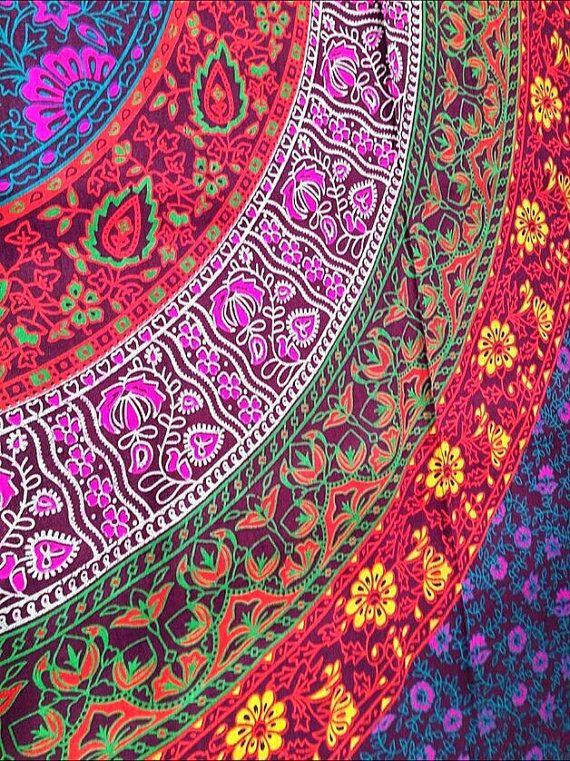 Mandala Indien Tapisserie Tissu 100 Coton Boho Hippie Boheme