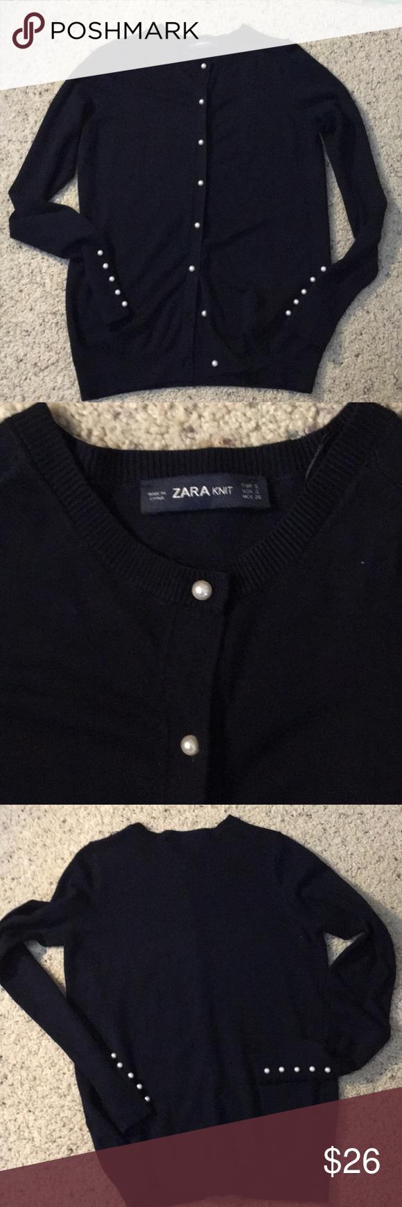 Zara Nwt Navy Blue Cardigan With Faux Pearl Button Navy Blue Cardigan Cardigan Zara