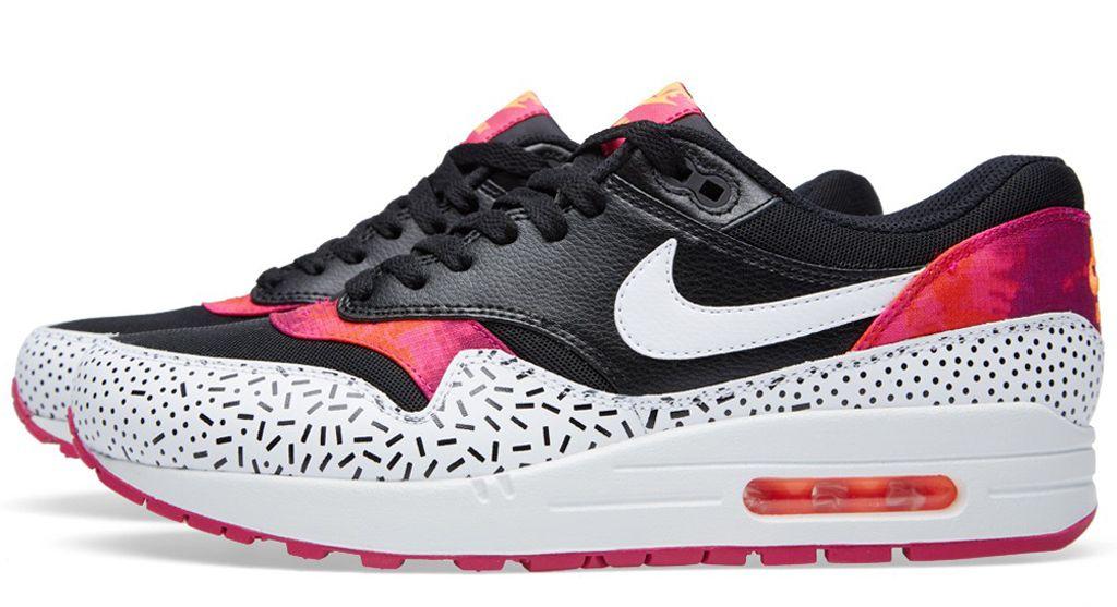 Nike Air Max 1 Print Fireberry Sprinkles Polka Dots   Sole