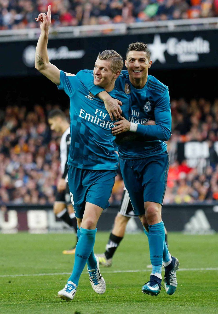 Image result for Cristiano Ronaldo with Toni Kroos